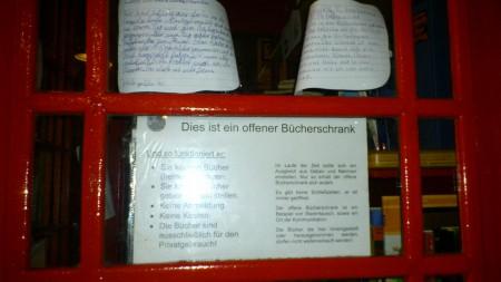 Off. Bücherschrank - Hinweise